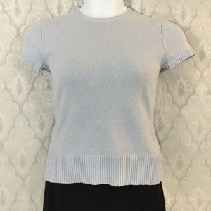 Gap Crew Neck Cap Sleeve Sweater Top